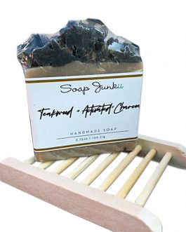Teakwood & Activated Charcoal Soap